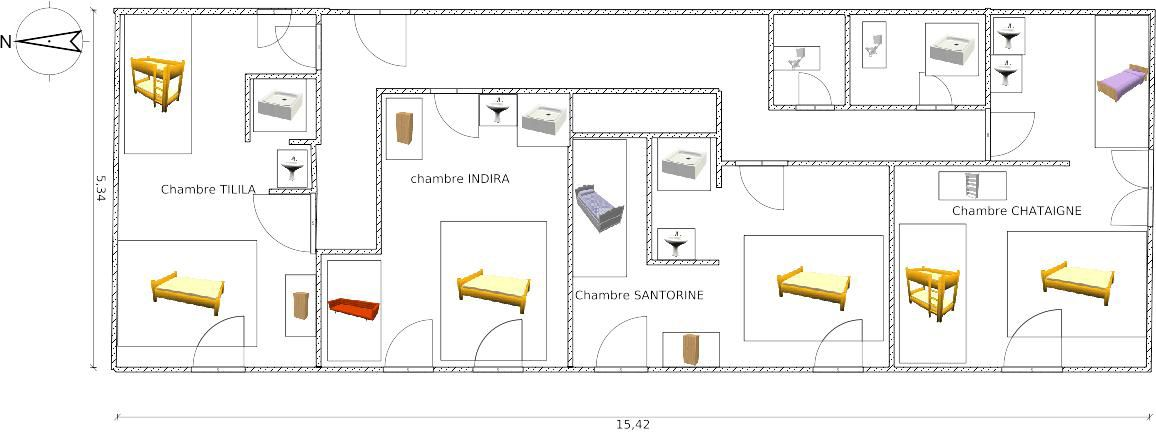 plan-gite-etage